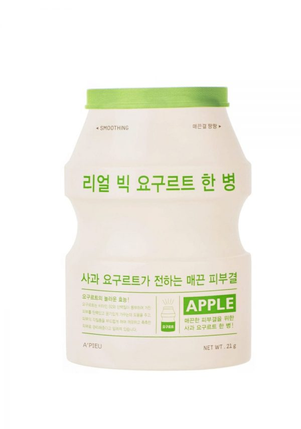 A'pieu Real Big Yogurt One- Bottle (Apple) -kangasnaamio