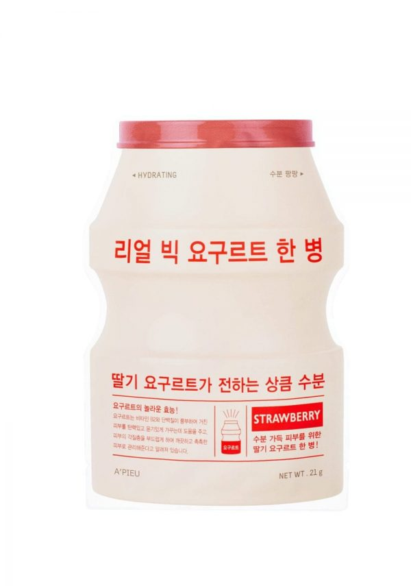 A'pieu Real Big Yogurt One- Bottle (Strawberry) -kangasnaamio