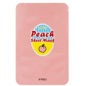 A'pieu Peach Yogurt Sheet Mask -kangasnaamio