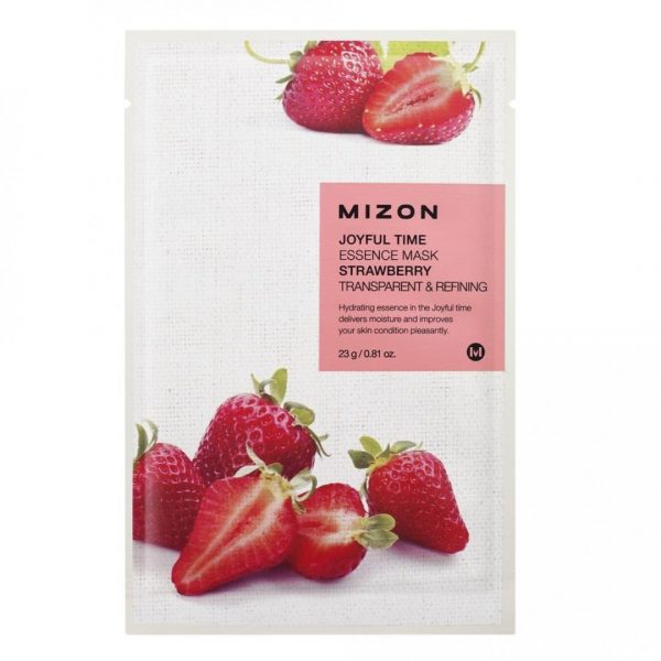 Mizon Joyful Time Essence Sheet Mask Strawberry -kangasnaamio